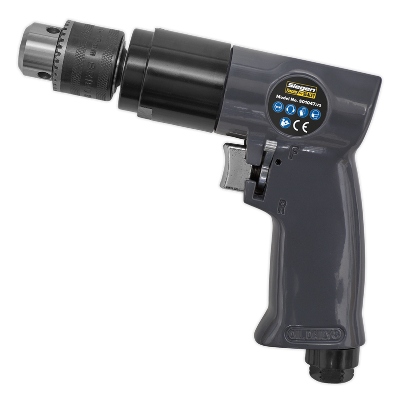 Air Drill Ø10mm 1800rpm Reversible