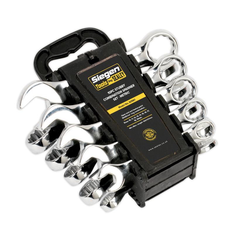 Combination Spanner Set 10pc Stubby Metric