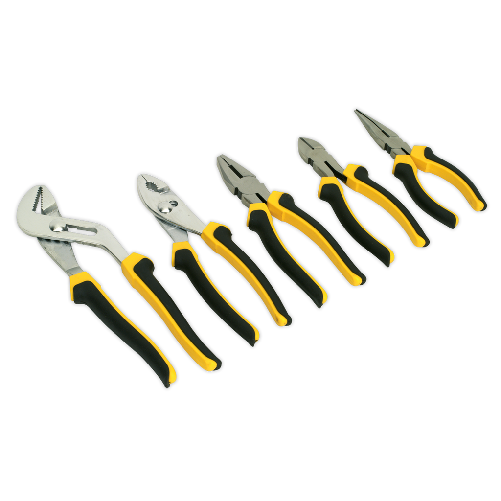 Comfort Grip Pliers Set 5pc