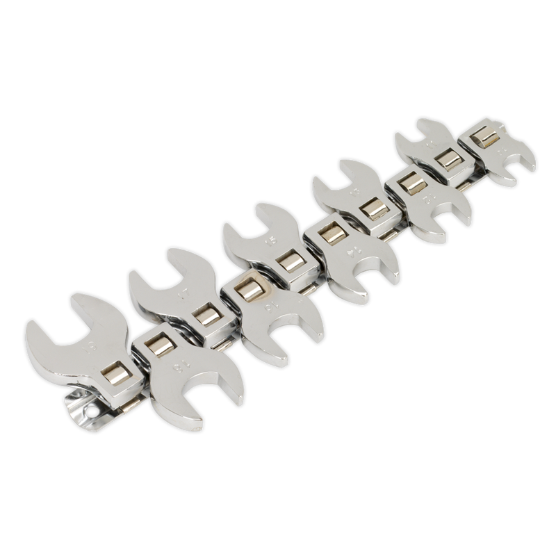 "Crow's Foot Open End Spanner Set 10pc 3/8""Sq Drive Metric"