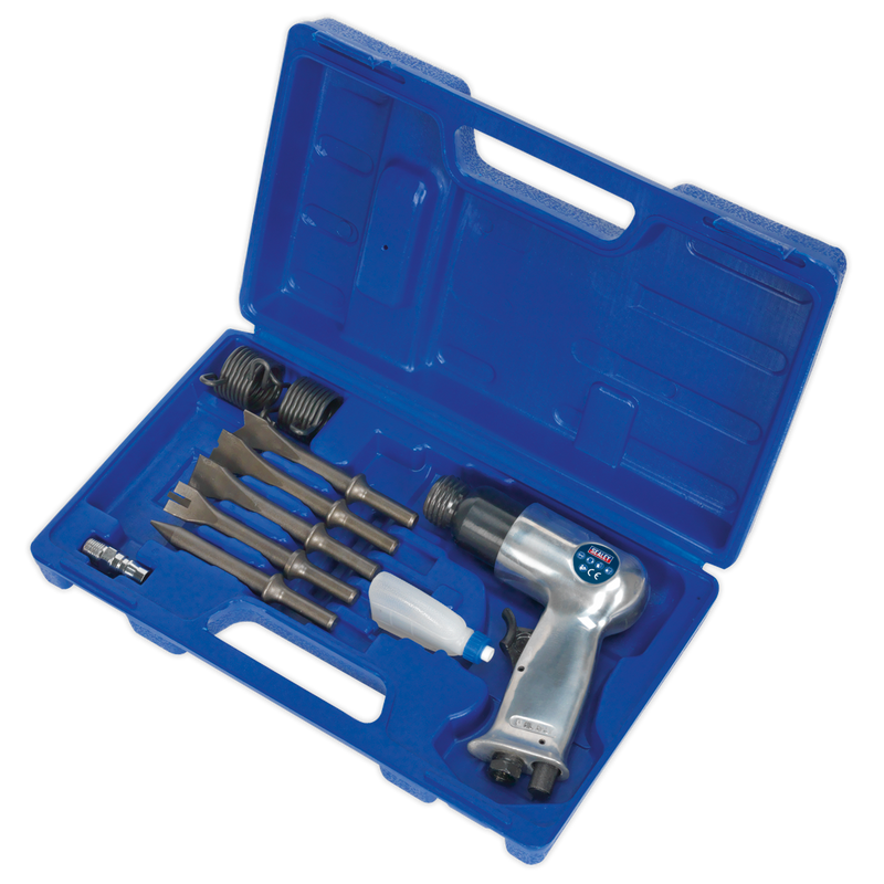 Air Hammer Kit with Chisels Medium Stroke