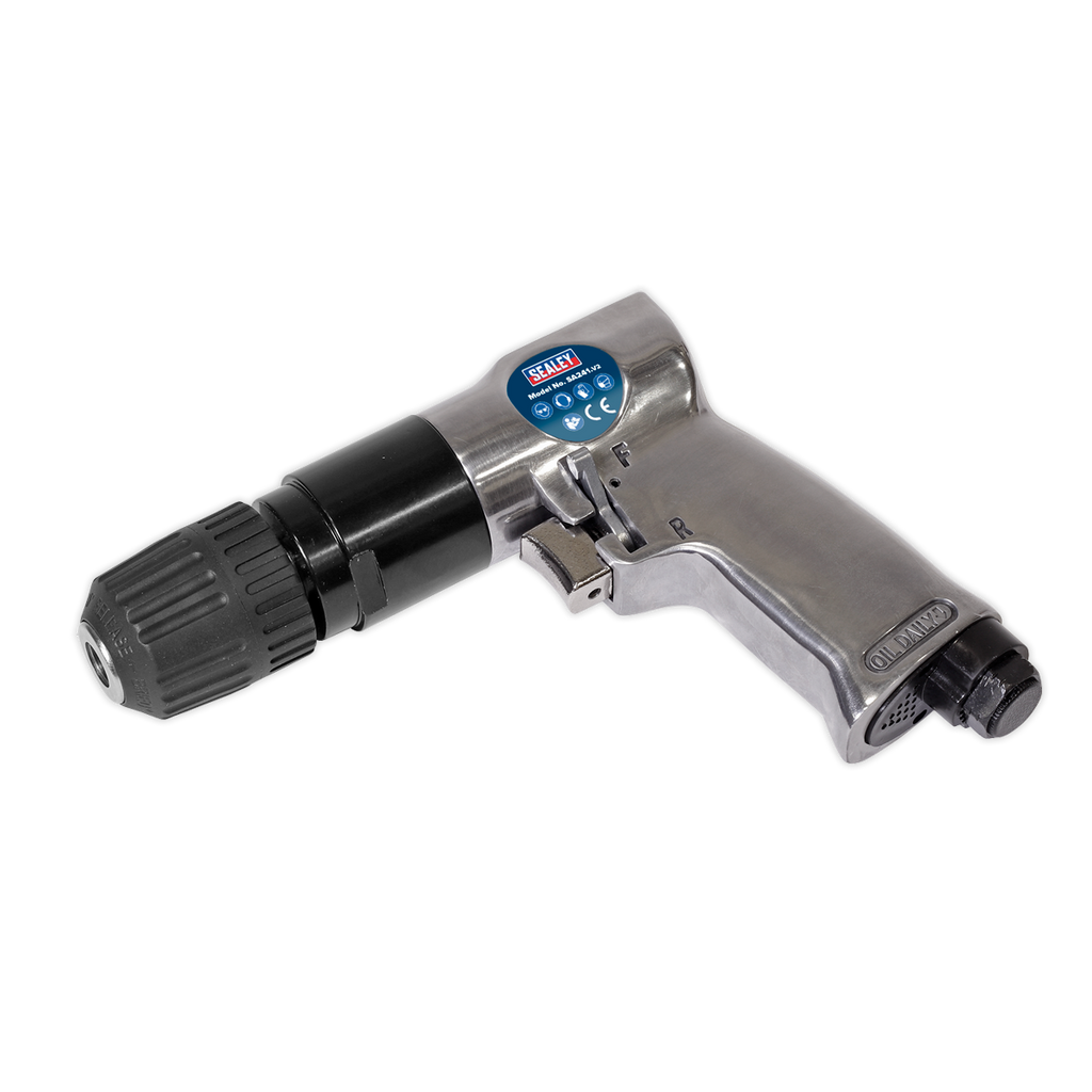 Air Drill Ø10mm Reversible with Keyless Chuck