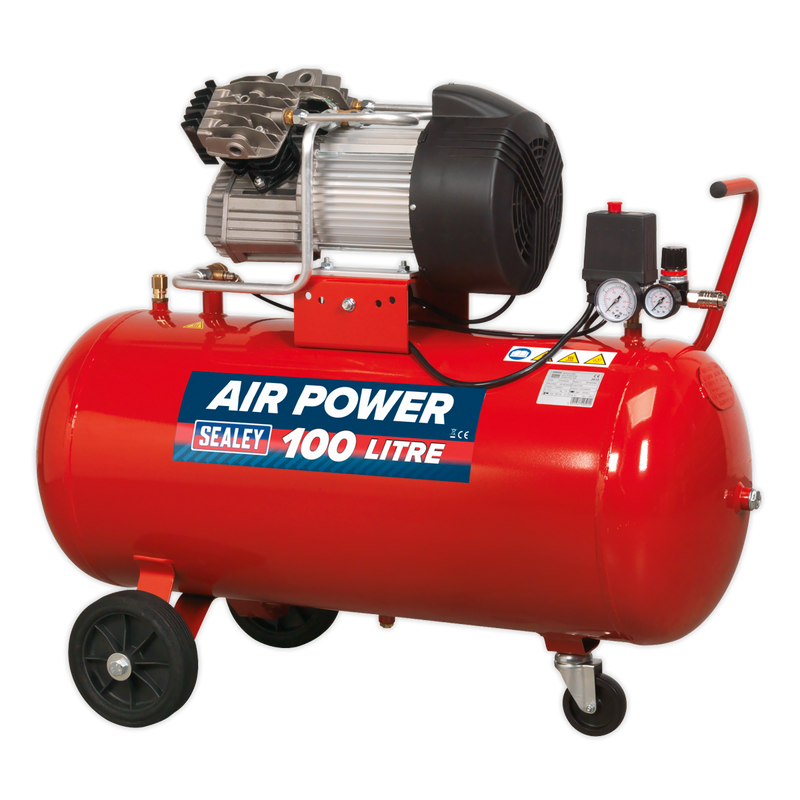 Compressor 100L V-Twin Direct Drive 3hp