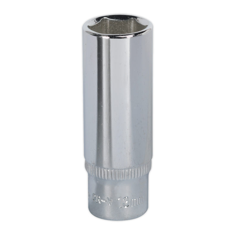 "WallDrive® Socket Deep 1/4""Sq Drive Fully Polished"