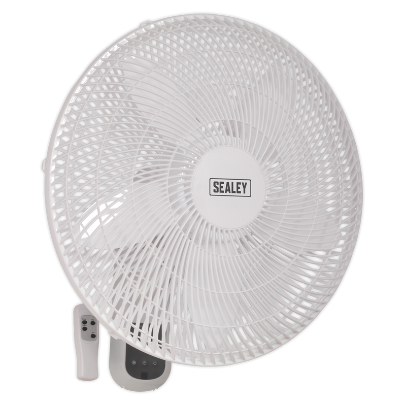 "Wall Fan 3-Speed 18"" with Remote Control 230V"
