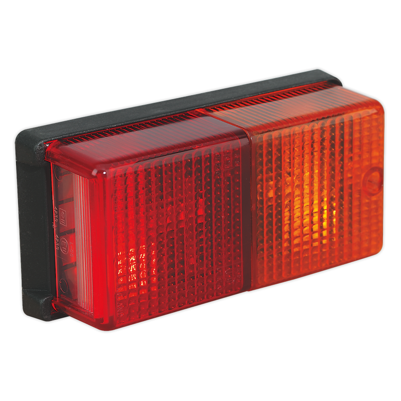 Rear Rectangular Lamp Cluster 4-Function 12V with Bulbs