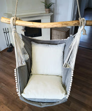 Load image into Gallery viewer, Hammock chair white/light gray