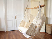 Load image into Gallery viewer, Hammock chair - beige with stripes