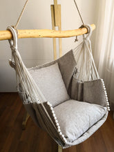 Load image into Gallery viewer, Hammock chair beige/beige texture