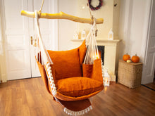 Load image into Gallery viewer, Hammock chair  orange texture