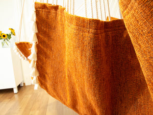 Hammock chair  orange texture