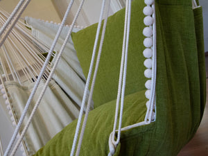 Hammock chair green/white