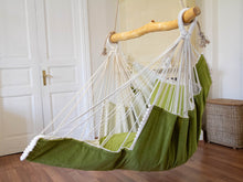 Load image into Gallery viewer, Hammock chair green/white