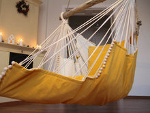 Load image into Gallery viewer, Hammock chair - yellow & white