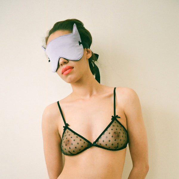 Peachy Keen Eyemask Blindfold in Lavender Silk