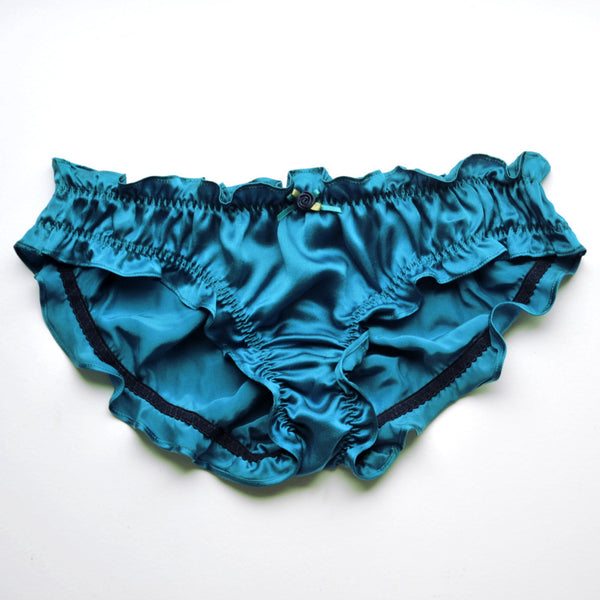Peachy Keen Knickers in Peacock Blue Silk