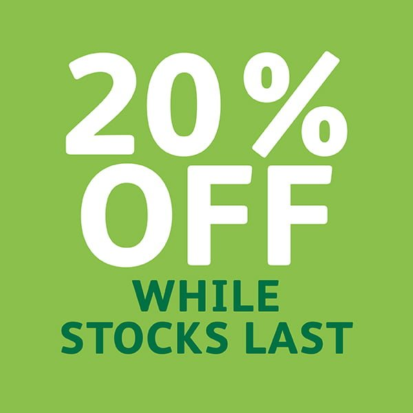 Garden products 20% off