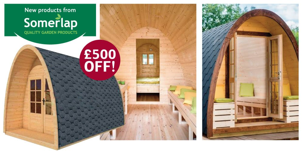 £500 off Somerlap Forest Products Camping Pods
