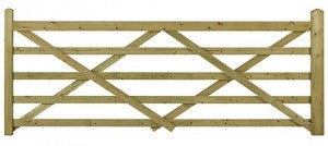 Forester wooden five bar gate