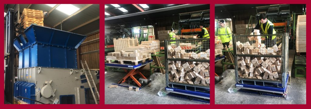New wood chipping machine for Somerlap Pallets