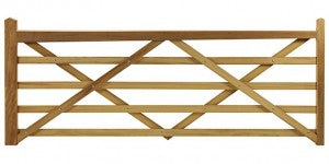 Somerset wooden five bar gate