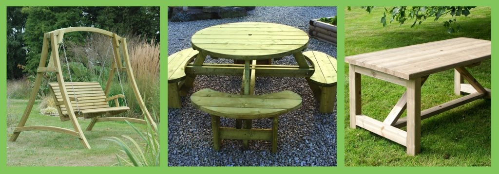 Softwood garden furniture