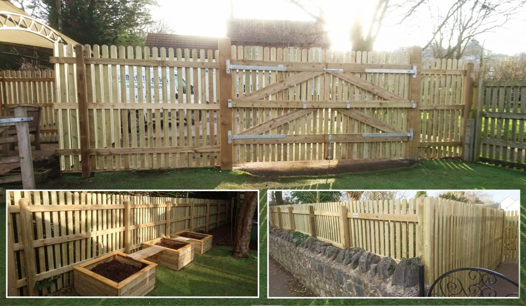 New wooden fences for Blagdon School