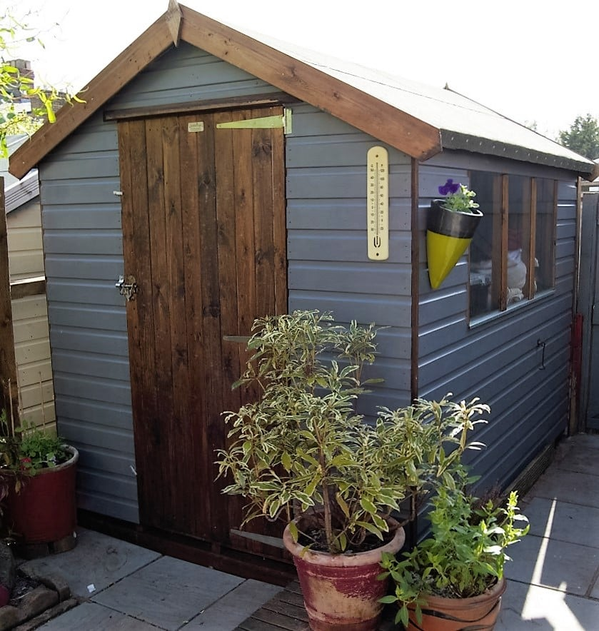 Customer Shed Painted