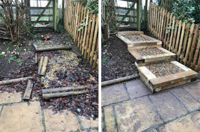 Before and After Garden Steps