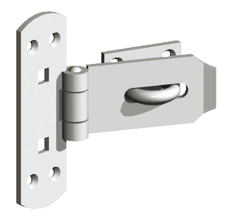 Vertical Hasp and Staple Set