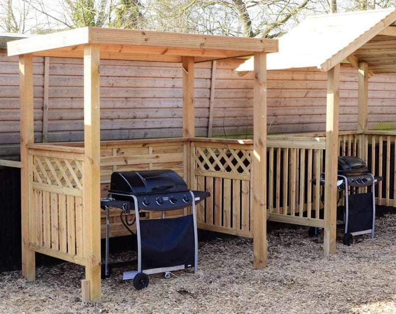 Softwood Garden BBQ shelter - Pent or Apex Roof