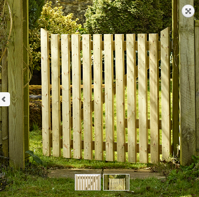 Cottage Wooden Side Gate
