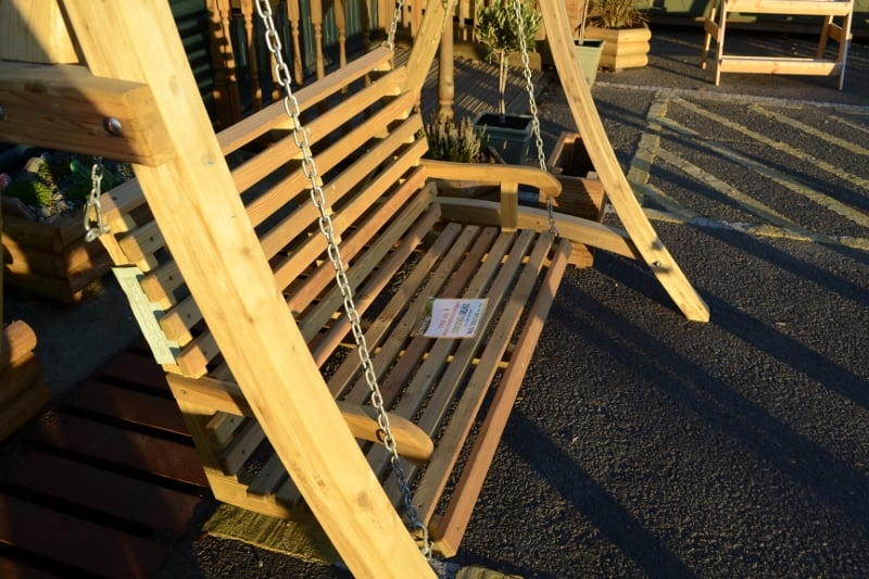 Outdoor Garden Softwood Swing Seat