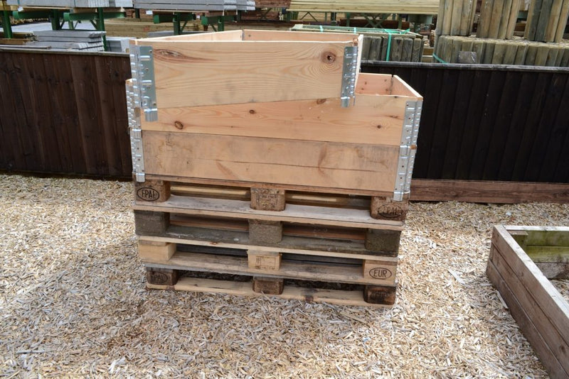 Pallet Collar Raised Garden Bed - Collapse and Stack Planter