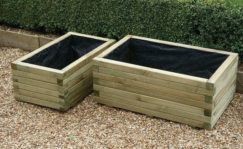Set Of Two Rectangular Planters