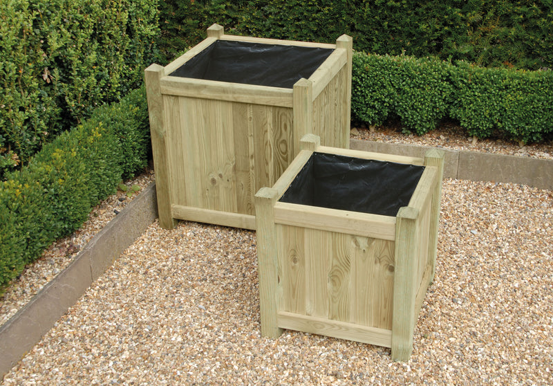 Set Of Two Square Planters