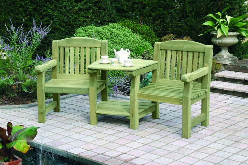 Top and Bottom Garden Furniture Shelf Set