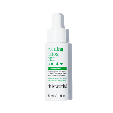 This Works  evening detox CBD booster + AHA complex Skincare