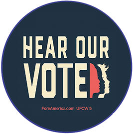 Hear Our Vote Pin