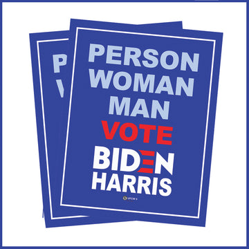 Person, Woman Man Vote Biden-Harris 2 Pack Window Sign