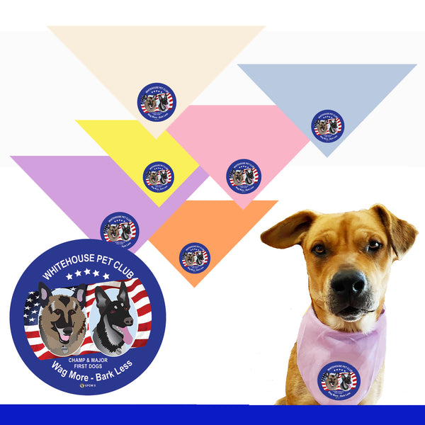 White House Pet Club Bandana