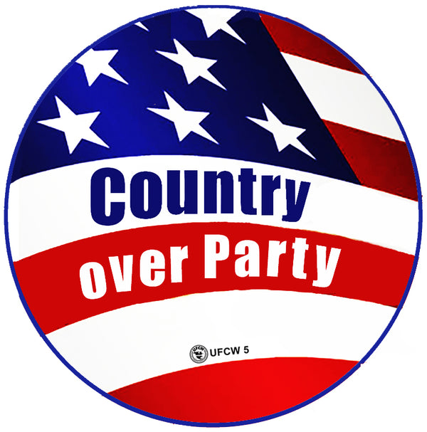Country Over Party Pin