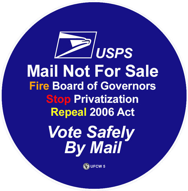 US Mail Not For Sale Pin