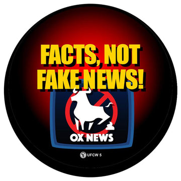 Facts Not Fake News Pin