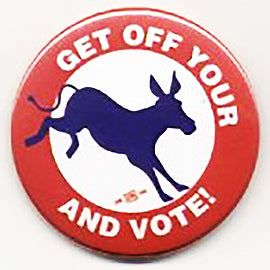 Get Off Your Donkey And Vote Pin