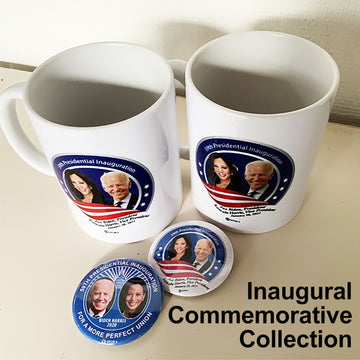 Inaugural Commemorative Mug Collection (2 mugs, 2 pins)