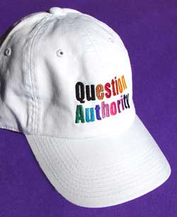 Question Authority Cap White
