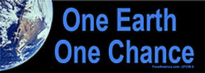 One Earth One Chance Bumper Sticker