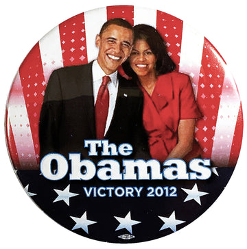 The Obamas Victory Pin