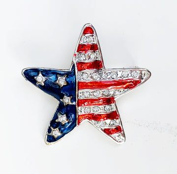 American Flag Star Pin